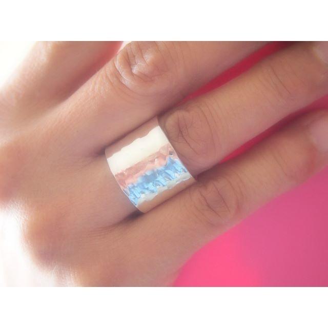 シンプルSilverリング15【幅広】 レディースのアクセサリー(リング(指輪))の商品写真