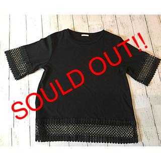 ジーユー(GU)の【色違い白と同時購入で超お得❤︎】 黒 の シャツ / Tシャツ Lサイズ (カットソー(半袖/袖なし))