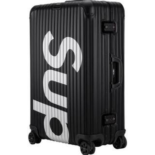 シュプリーム(Supreme)のsupreme × RIMOWA Topas BLACK 85L(トラベルバッグ/スーツケース)