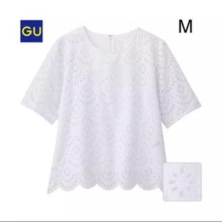ジーユー(GU)のGUスカラップレースTブラウス(シャツ/ブラウス(半袖/袖なし))