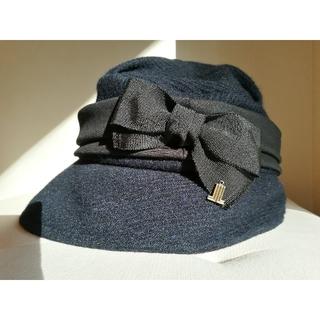 ランバンオンブルー(LANVIN en Bleu)のランバンオンブルー レトロ帽子(ハット)