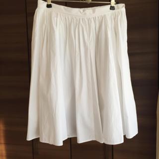 デミルクスビームス(Demi-Luxe BEAMS)のデミルクスビームス 白スカート(ひざ丈スカート)