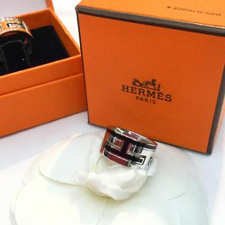 エルメス(Hermes)の◯未使用 HERMES エルメス ムーブアッシュ リング 黒 ♯51◯(リング(指輪))