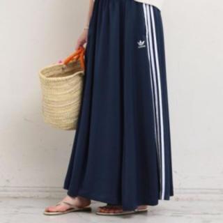 アディダス(adidas)のアディダス ロングスカート 3本ライン 未使用品(ロングスカート)