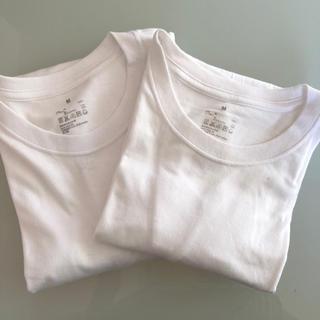 ムジルシリョウヒン(MUJI (無印良品))の美品 無印良品 綿100 肌着Tシャツ(Tシャツ/カットソー(半袖/袖なし))