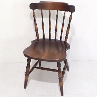 C241 キツツキマーク 飛騨産業 アンティーク調 椅子 家具 いす イス(ダイニングチェア)