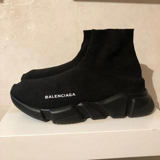 バレンシアガ(Balenciaga)の最安値 BALENCIAGA スピードトレーナー 39 ノワール(スニーカー)