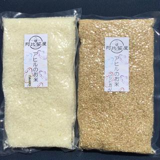 【食味値84】アヒルのお米♪コシヒカリH29年度岡山県産3合パック玄米白米セット(米/穀物)