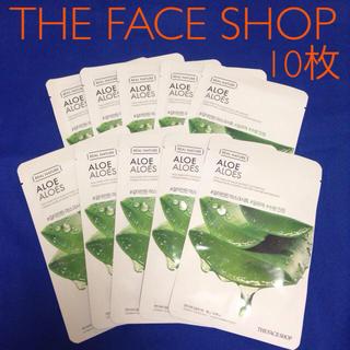ザフェイスショップ(THE FACE SHOP)の★10枚セット★ THE FACE SHOP アロエフェイスマスク(パック/フェイスマスク)