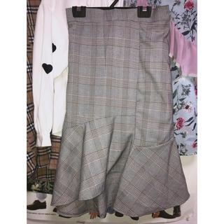 ロクロクガールズ(66girls)の韓国 アンバランス マーメイドスカート(ひざ丈スカート)