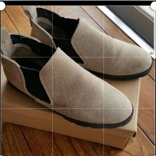 本革スエード サイドゴアブーツ 22.5(ブーツ)