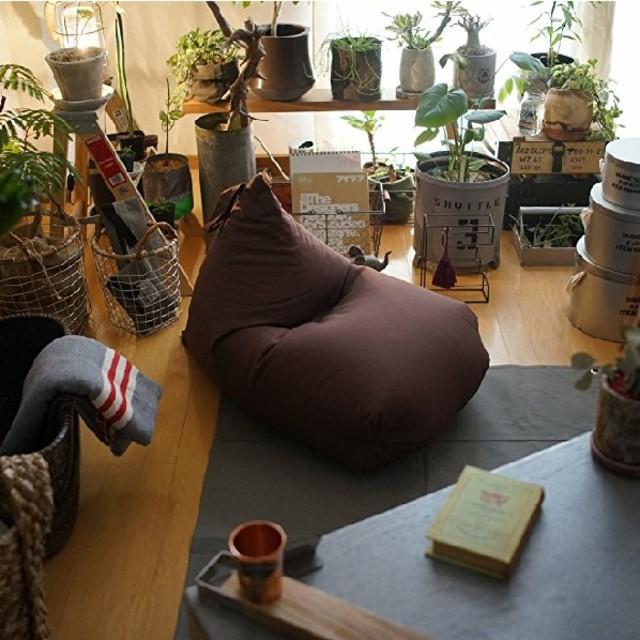 【送料無料】 人をダメにするクッション ブラウン インテリア/住まい/日用品のソファ/ソファベッド(ビーズソファ/クッションソファ)の商品写真