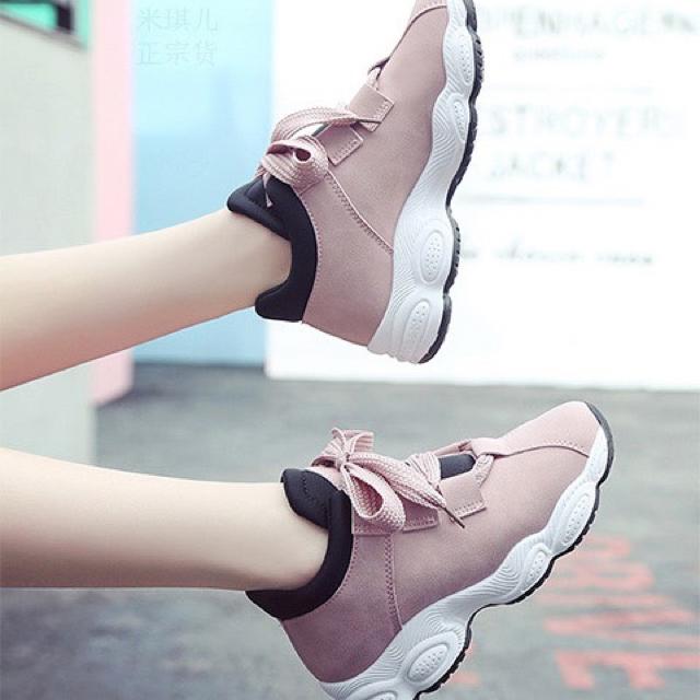 ●りんご様専用●韓国風 太ひも厚底スニーカー【35】ピンク レディースの靴/シューズ(スニーカー)の商品写真