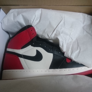 ナイキ(NIKE)のair jordan 1 retro high og bred toe つま赤(スニーカー)