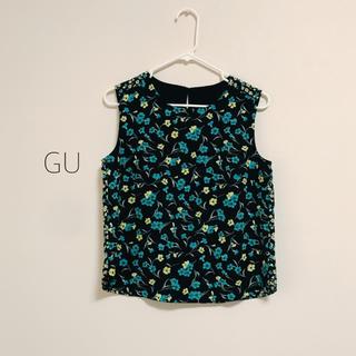 ジーユー(GU)のGWセール!GU ♡ 花柄タンクトップブラウス(シャツ/ブラウス(半袖/袖なし))