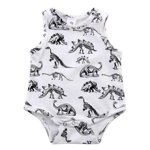 恐竜柄 ロンパース キッズ/ベビー/マタニティのベビー服(~85cm)(ロンパース)の商品写真