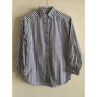 オリアン(ORIAN)のORIAN ストライプシャツ ネイビー×白(シャツ/ブラウス(長袖/七分))
