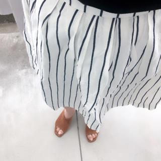 デミルクスビームス(Demi-Luxe BEAMS)のビームス   リネン  スカート (ひざ丈スカート)