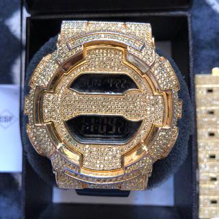ジーショック(G-SHOCK)の最終GSHOCKカスタムGショックセレブ14kラブダイヤ腕時計 カシオCASIO(腕時計(デジタル))