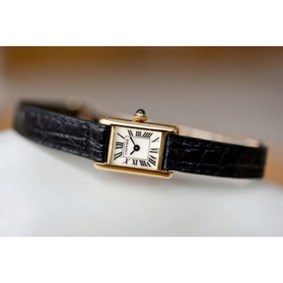 カルティエ(Cartier)の美品 カルティエ Cartier k18 タンクアロンジェ 腕時計(腕時計)