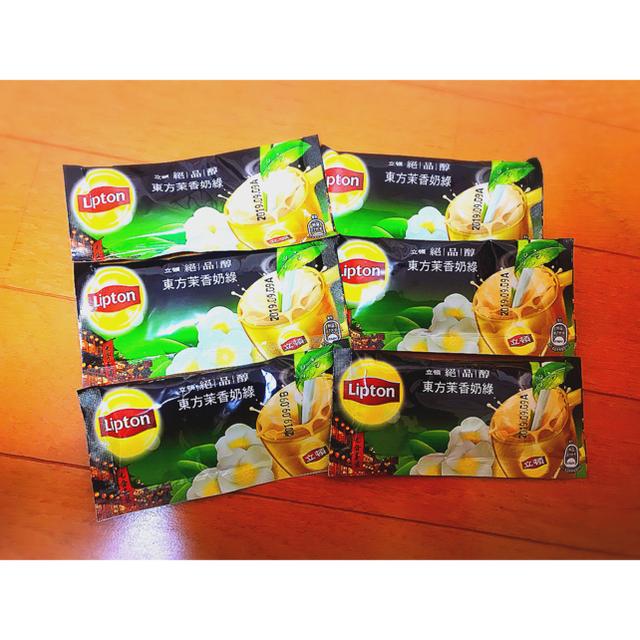 Unilever(ユニリーバ)の台湾限定 ☆ リプトン ジャスミンミルク緑茶 6個入り 食品/飲料/酒の飲料(茶)の商品写真
