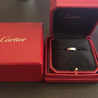 カルティエ(Cartier)の【Cartier】カルティエ ミニラブリング WG 46 ホワイトゴールド 6号(リング(指輪))