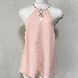 アトモスフィア(ATMOSPHERE)のatmosphereの薄いピンク色 カットソー(カットソー(半袖/袖なし))
