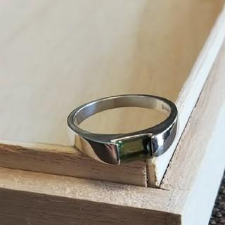 レアストーン◇モルダバイト シルバーリング(リング(指輪))