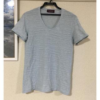 ハイストリート(HIGH STREET)のTシャツ 水色 HIGH STREET 美品(Tシャツ/カットソー(半袖/袖なし))