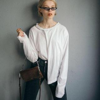マルタンマルジェラ(Maison Martin Margiela)のperverze♡スリットロングTシャツ♡(Tシャツ(長袖/七分))