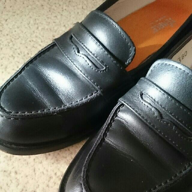 note et silence(ノートエシロンス)のローファー マットブラック レディースの靴/シューズ(ローファー/革靴)の商品写真