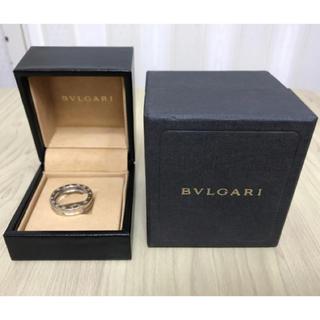 ブルガリ(BVLGARI)の【美品】BVLGARIブルガリ B.ZERO1 18K ホワイトゴールド リング(リング(指輪))