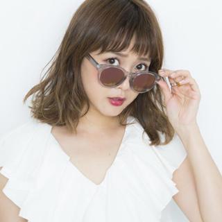 ゾフ(Zoff)のZoff × RINA TANAKA ボストン ミラーサングラス(サングラス/メガネ)