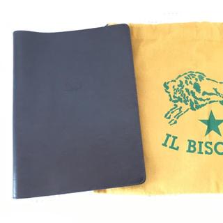 イルビゾンテ(IL BISONTE)のイルビゾンテ ノートカバー 黒 A5サイズ(ブックカバー)