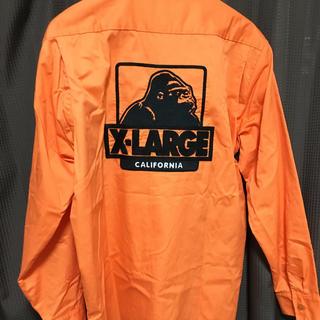 エクストララージ(XLARGE)のX-LARGE オレンジ 美品 シャツ オープンカラーシャツ(シャツ)