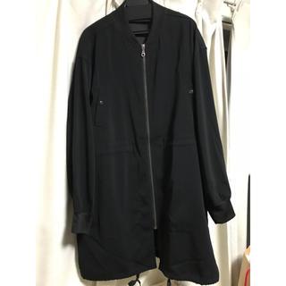 ジーユー(GU)のGU ロングMA-1コート ロングジャケット 黒(ロングコート)