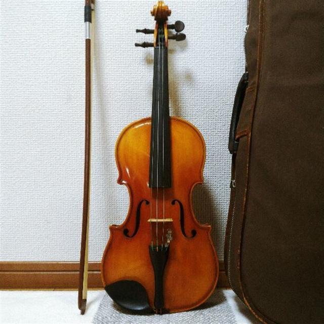【ワンピースバック】Kiso Suzuki バイオリン 1/4 鈴木 1972 楽器の弦楽器(ヴァイオリン)の商品写真