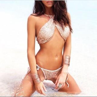 29cd729e7aa ヴィクトリアズシークレット(Victoria's Secret)の大人気!新品最安値スパンコールビキニ ホルターネック