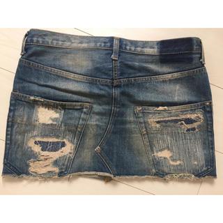 アンダーカバー(UNDERCOVER)の美品  初期  アンダーカバー   デニム  スカート(ミニスカート)