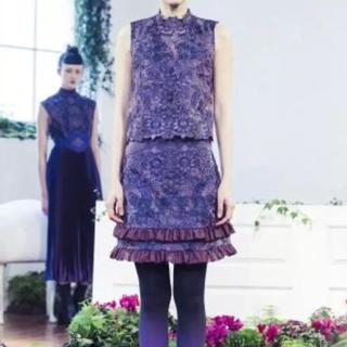 THREE FLOOR レース刺繍スカート(ミニスカート)