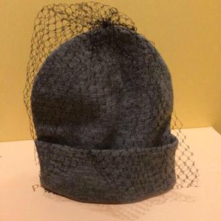 パサージュミニョン(passage mignon)のパサージュミニョン チュールニット帽(ニット帽/ビーニー)