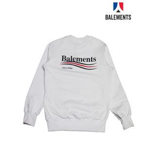 バレンシアガ(Balenciaga)のBALEMENTS WHITE SWEAT バレモン 白 スウェット トレーナー(スウェット)