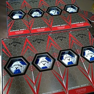 キャロウェイ(Callaway)のキャロウェイ クロムソフトX トゥルービス ホワイト/ブルー ゴルフボール(その他)