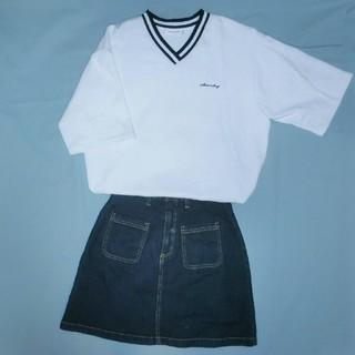 ミックスエックスミックス(mixxmix)のbomb.K様 mixxmix 薄トレーナー地半袖トップス カットソー ホワイト(Tシャツ(半袖/袖なし))