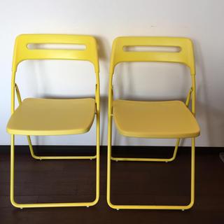 イケア(IKEA)の送料込!二脚セットIKEA折りたたみチェア(折り畳みイス)