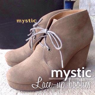 ミスティック(mystic)の値下mysticレースアップブーティ美品(ブーツ)