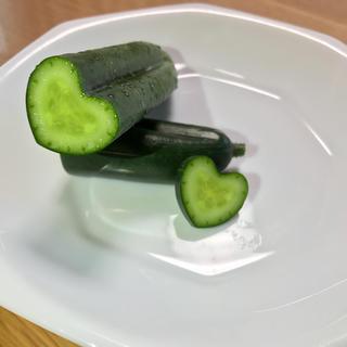 ハート、星(野菜)