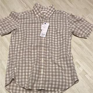 ジーユー(GU)のチェック柄シャツ(シャツ/ブラウス(半袖/袖なし))