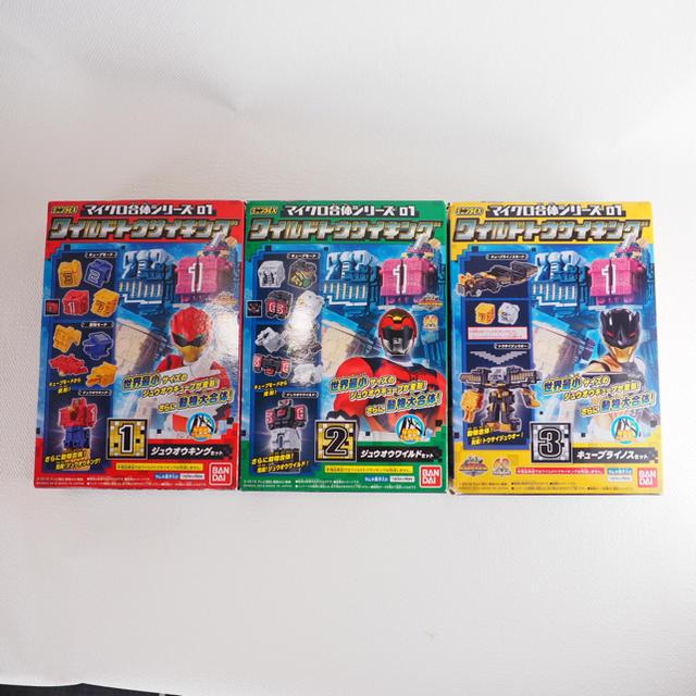 BANDAI(バンダイ)のミニプラEX マイクロ合体シリーズ ワイルドトウサイキング 1.2.3 エンタメ/ホビーのおもちゃ/ぬいぐるみ(キャラクターグッズ)の商品写真