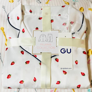 ジーユー(GU)の【新品】パジャマ♡ルームウェア♡いちご♡イチゴ♡GU♡【完売】ジェラートピケ 似(パジャマ)